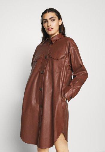 MARIE DRESS - Shirt dress - brown