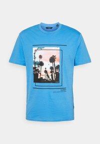 ONSPASMAL LIFE TEE - Print T-shirt - marina