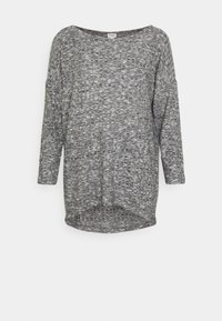 JDY - JDYDITTE MELISA LOOSE - Long sleeved top - dark grey melange - 0