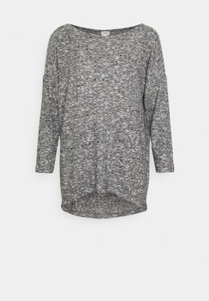 JDYDITTE MELISA LOOSE - Long sleeved top - dark grey melange