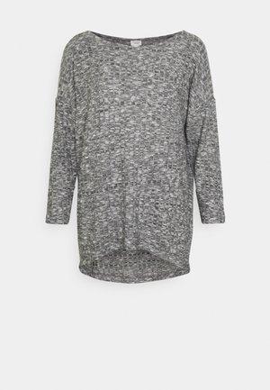 JDYDITTE MELISA LOOSE - Langærmede T-shirts - dark grey melange