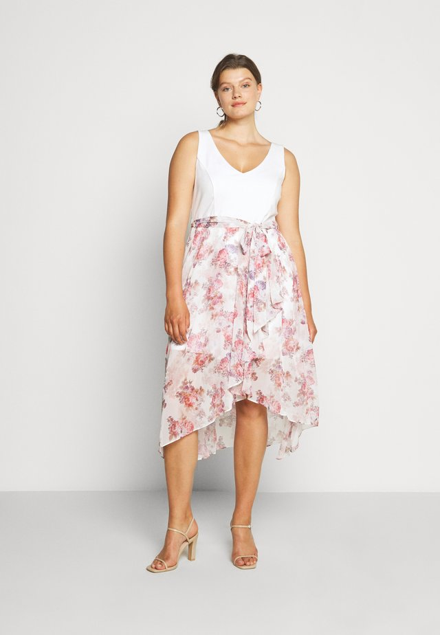 KENDRA V NECK CURVE DRESS - Vestito estivo - pink