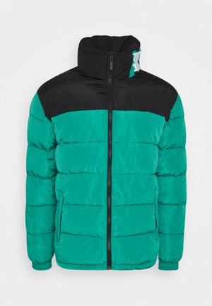 BLOCK REVERSIBLE PUFFER JACKET - Winter jacket - turquoise