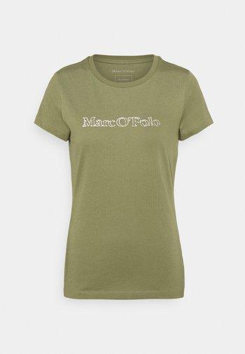 Print T-shirt - dried sage