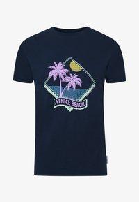 VENICE BEACH PRINT - Triko spotiskem - navy