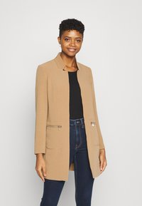 ONLY - ONLLINEA MIRIAM ZIP COATIGAN  - Manteau court - tigers eye - 0