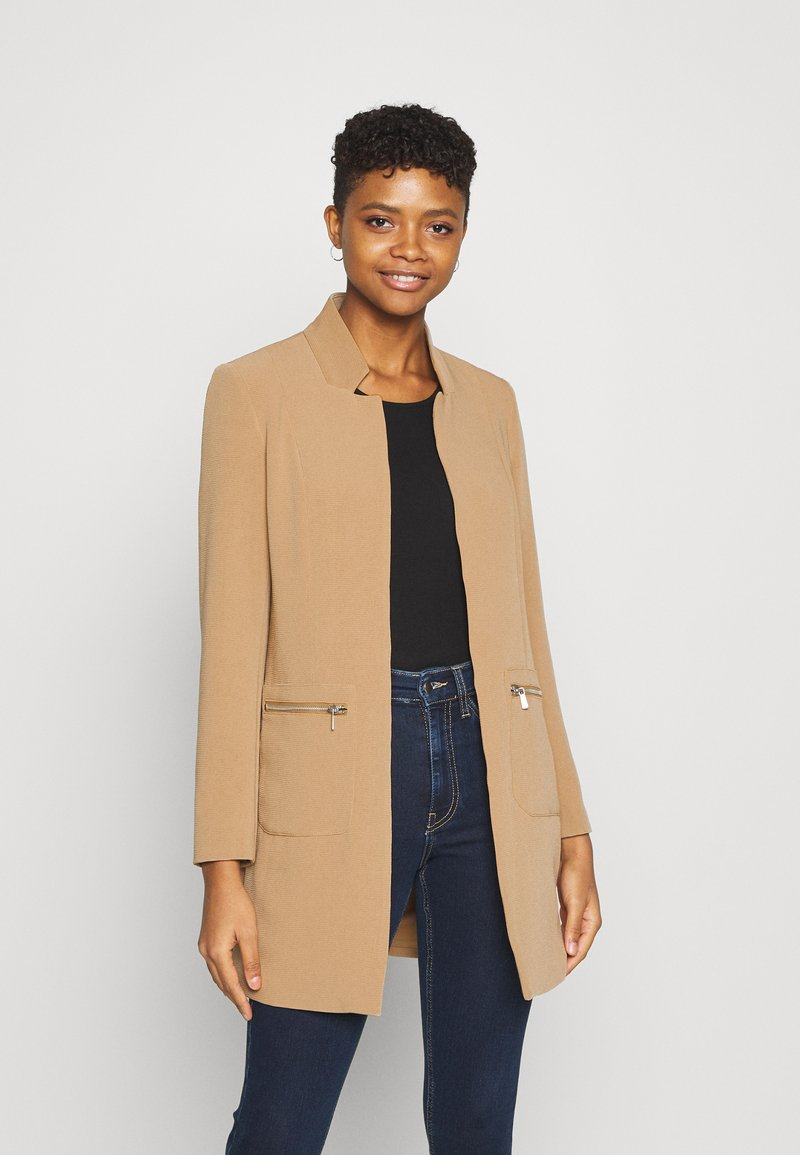 ONLY - ONLLINEA MIRIAM ZIP COATIGAN  - Manteau court - tigers eye