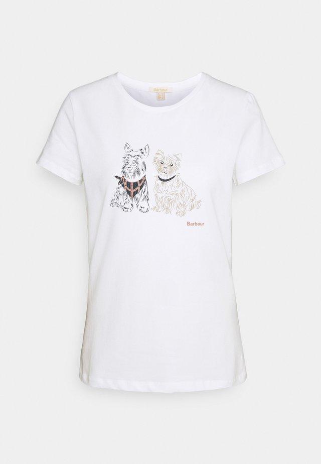 HIGHLANDS TEE - T-Shirt print - white