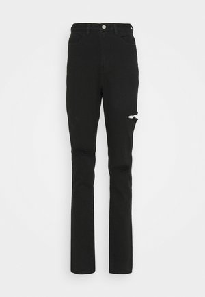 THIGH RIP SLIM STRIAGHT COMFORT STRETCH - Jeans straight leg - black