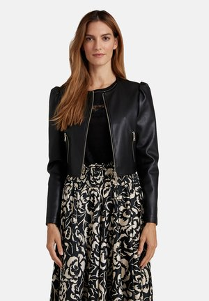 GIACCA IN SIMILPELLE - Faux leather jacket - nero
