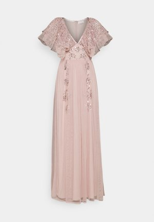 V NECK RUFFLE EMBELLISHED DRESS - Ballkjole - frosted pink