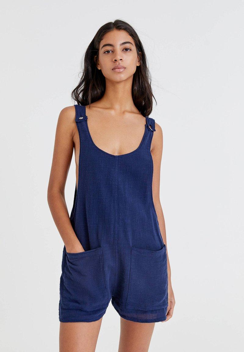 PULL&BEAR - MIT TASCHEN - Jumpsuit - light blue