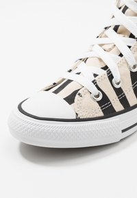 Converse - CHUCK TAYLOR ALL STAR ZEBRA PRINT  - Sneakers high - black/greige/white - 2