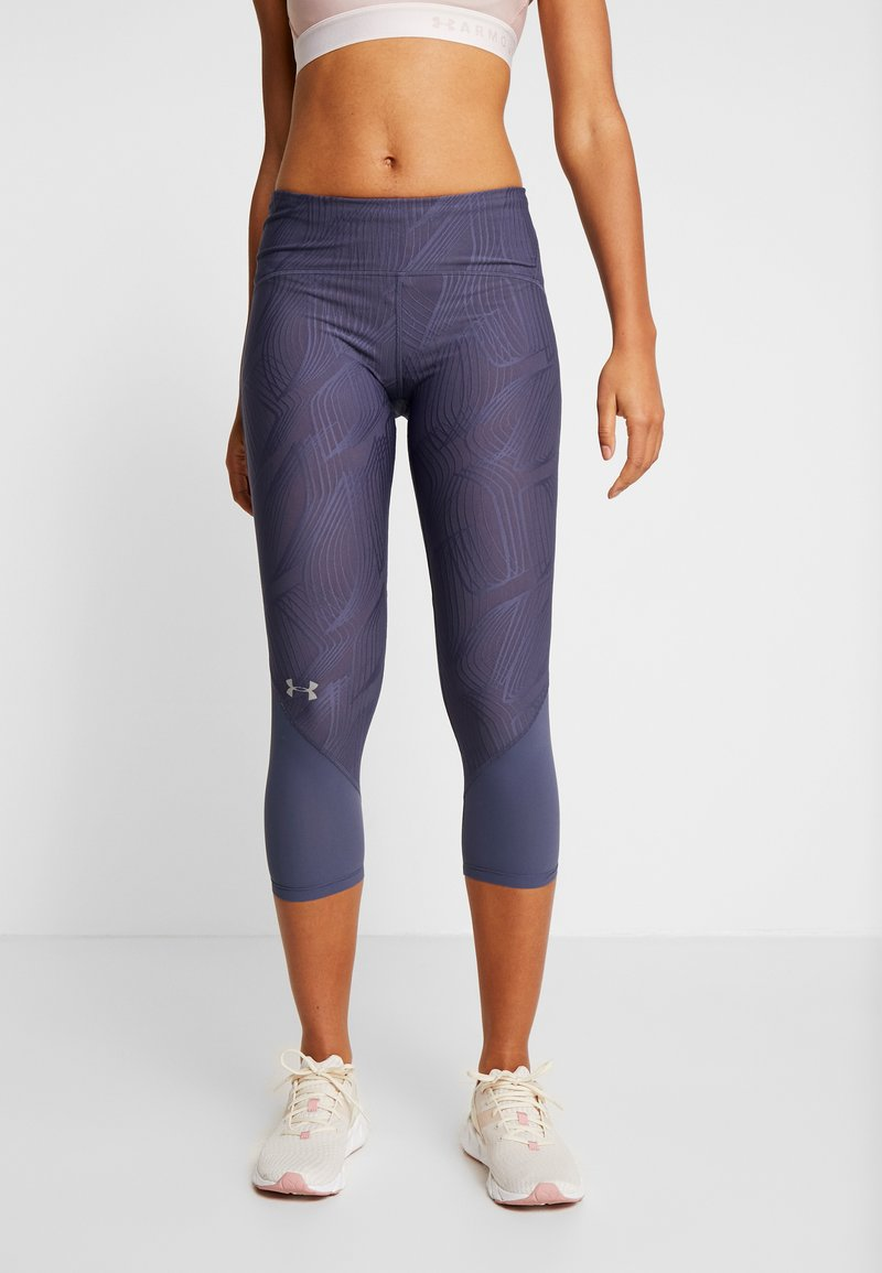 Under Armour - FLY FAST CROP - 3/4 sports trousers - blue ink