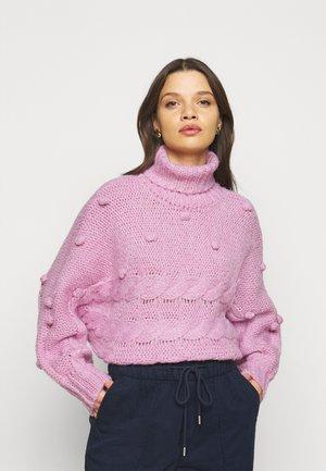 PCDARPER ROLL NECK - Jersey de punto - pastel lavender