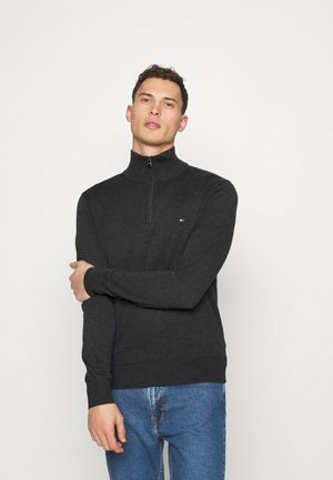 BLEND ZIP MOCK - Jumper - grey