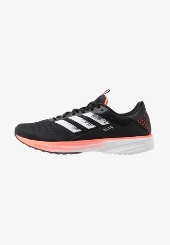 SL20 - Neutral running shoes - core black/footwear white/signal coral