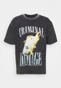 FIRE MONEY  - Print T-shirt - washed black