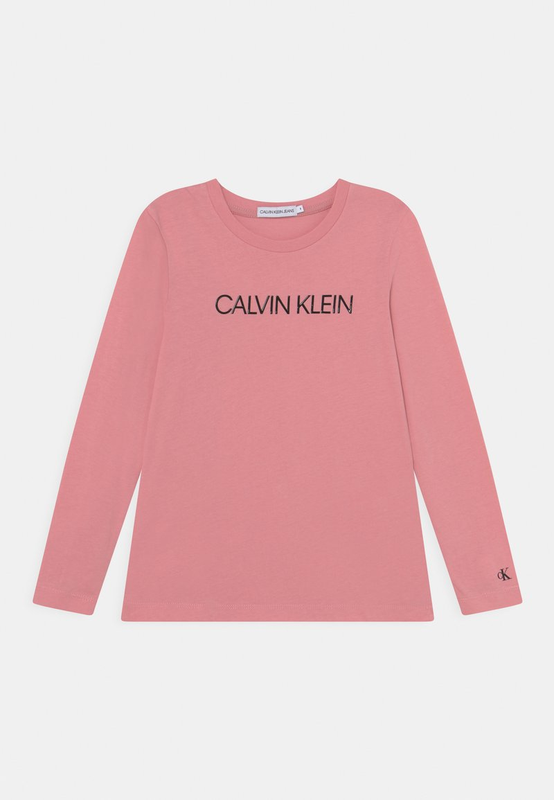 Calvin Klein Jeans - INSTITUTIONAL LOGO - Long sleeved top - soft berry