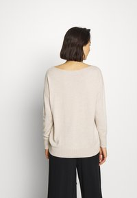 Selected Femme - SLFINKA  - Sweter - birch melange - 2