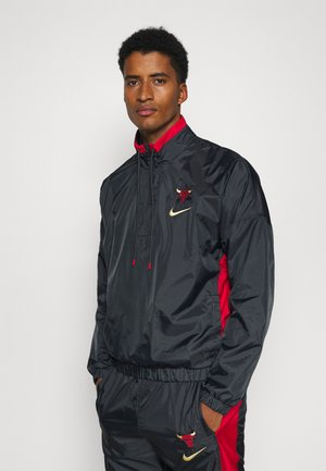NBA CHICAGO BULLS CITY EDITION TRACKSUIT SET - Klubbkläder - anthracite/university red