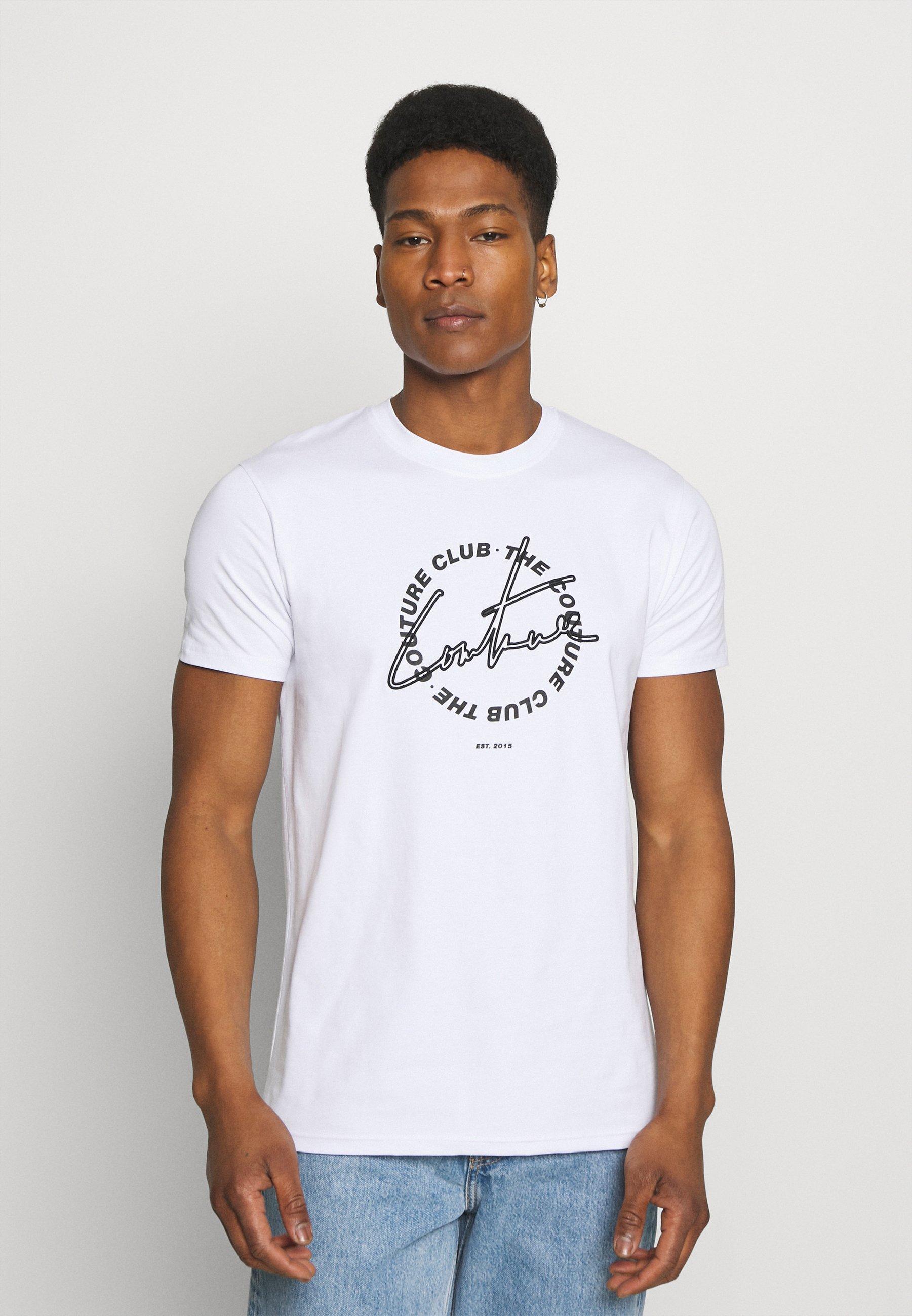 Homme COUTURE SIGNATURE CIRCLE SLIM FIT T SHIRT - T-shirt imprimé