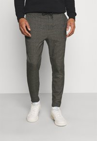Only & Sons - ONSLINUS CROP CHECK PANTS - Trousers - grey melange - 0