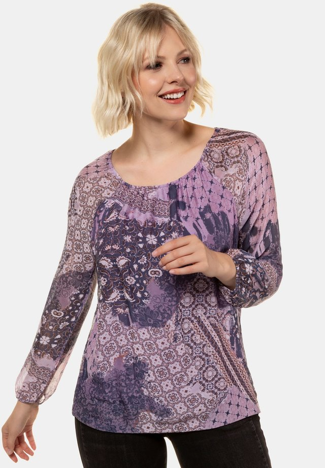 MIT MUSTER, LANGARM, JERS - Blouse - orchidee