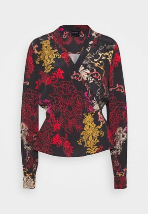 PRINTED BLOUSE - Blouse - brown/red