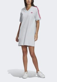 adidas Originals - 3D TREFOIL TEE DRESS - Jerseykjoler - blue - 2