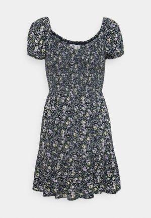 CHAIN SHORT DRESS - Day dress - navy pattern