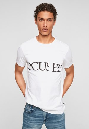 DETAIL - Print T-shirt - white