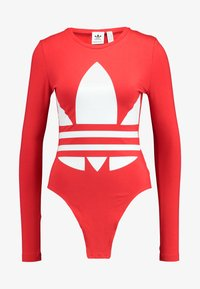 adidas Originals - LOGO BODY - Pitkähihainen paita - lush red/white - 4