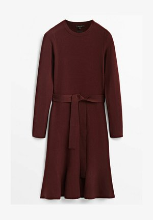 MIT SCHÖSSCHEN - Jersey dress - bordeaux