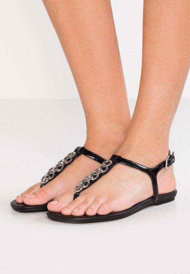 SILVA - T-bar sandals - black