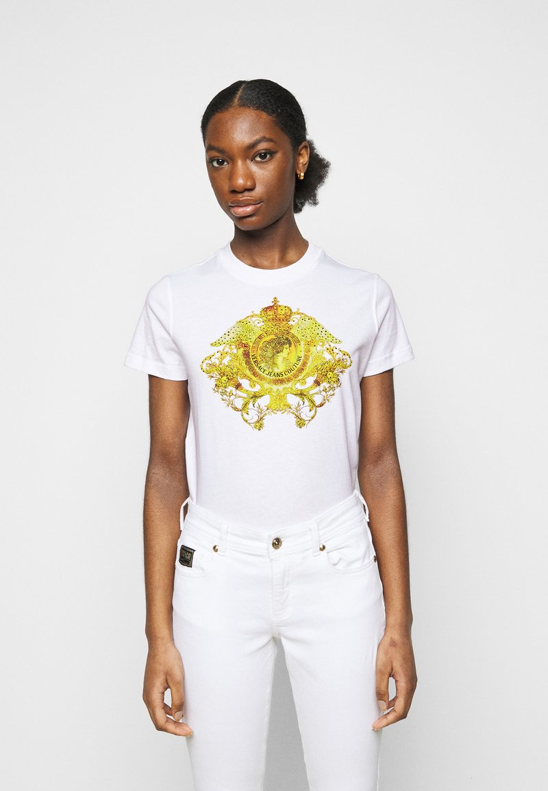 Versace Jeans Couture - SHORT SLEEVE - Print T-shirt - optical white