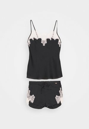 CAMI CONTRAST SET - Pyjama - black
