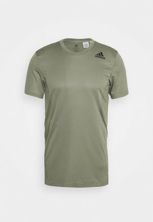 HEAT.RDY TRAINING SLIM SHORT SLEEVE TEE - T-Shirt print - legend green