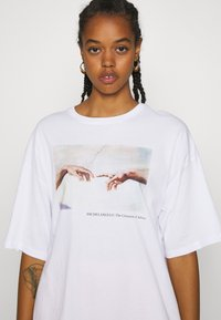 Even&Odd - Print T-shirt - white