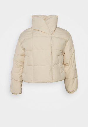 PCSAZEL SHORT PUFFER JACKET CURVE - Winter jacket - fog