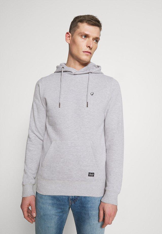 Hoodie - light grey melee