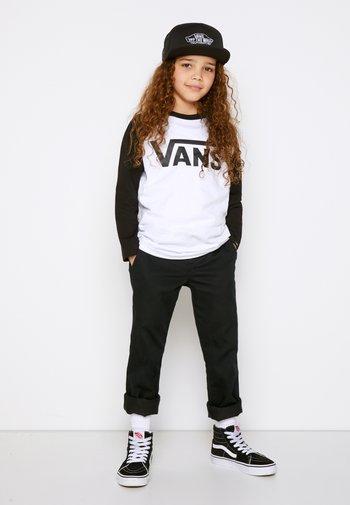 BY VANS CLASSIC RAGLAN BOYS - Long sleeved top - white/black