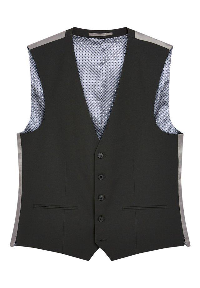 STRETCH TONIC SUIT: WAISTCOAT - Jakkesæt veste - black