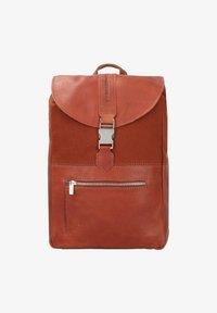 Cowboysbag - BACK TO SCHOOL NOVA RUCKSACK 38 CM LAPTOPFACH - Sac bandoulière - cognac - 0