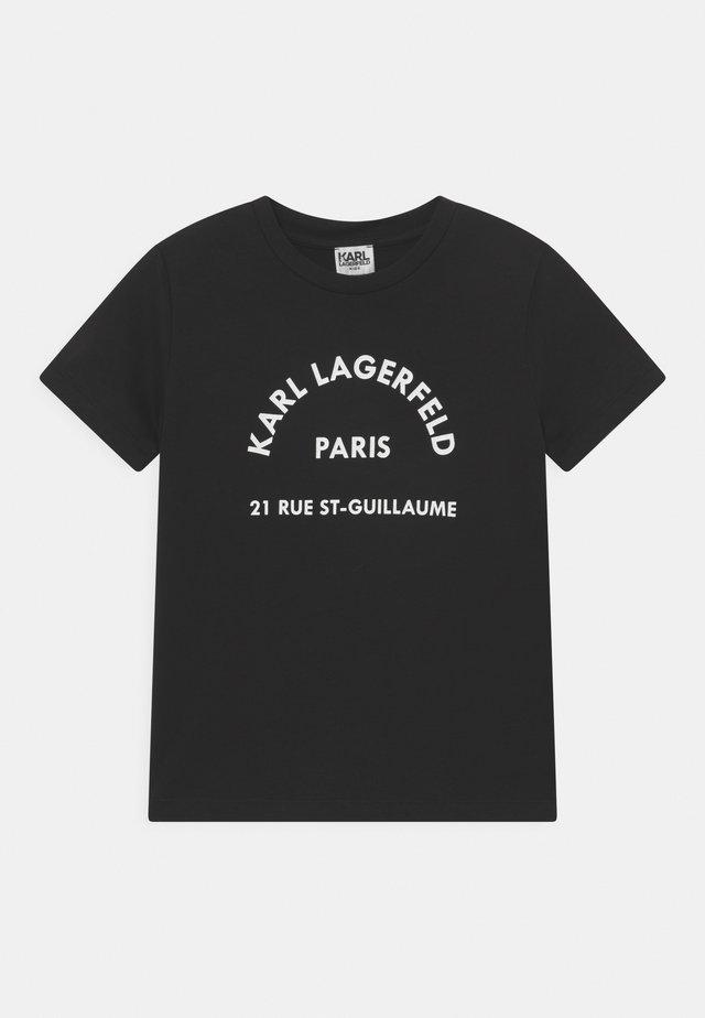 SHORT SLEEVES - T-shirt imprimé - black