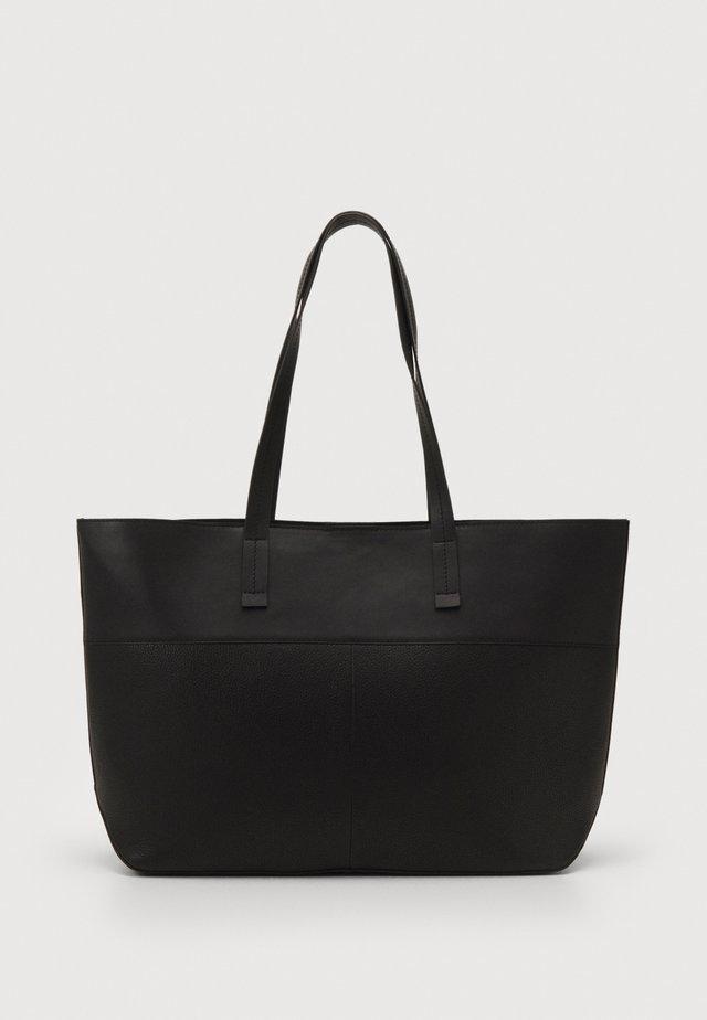 LEATHER - Shopper - black