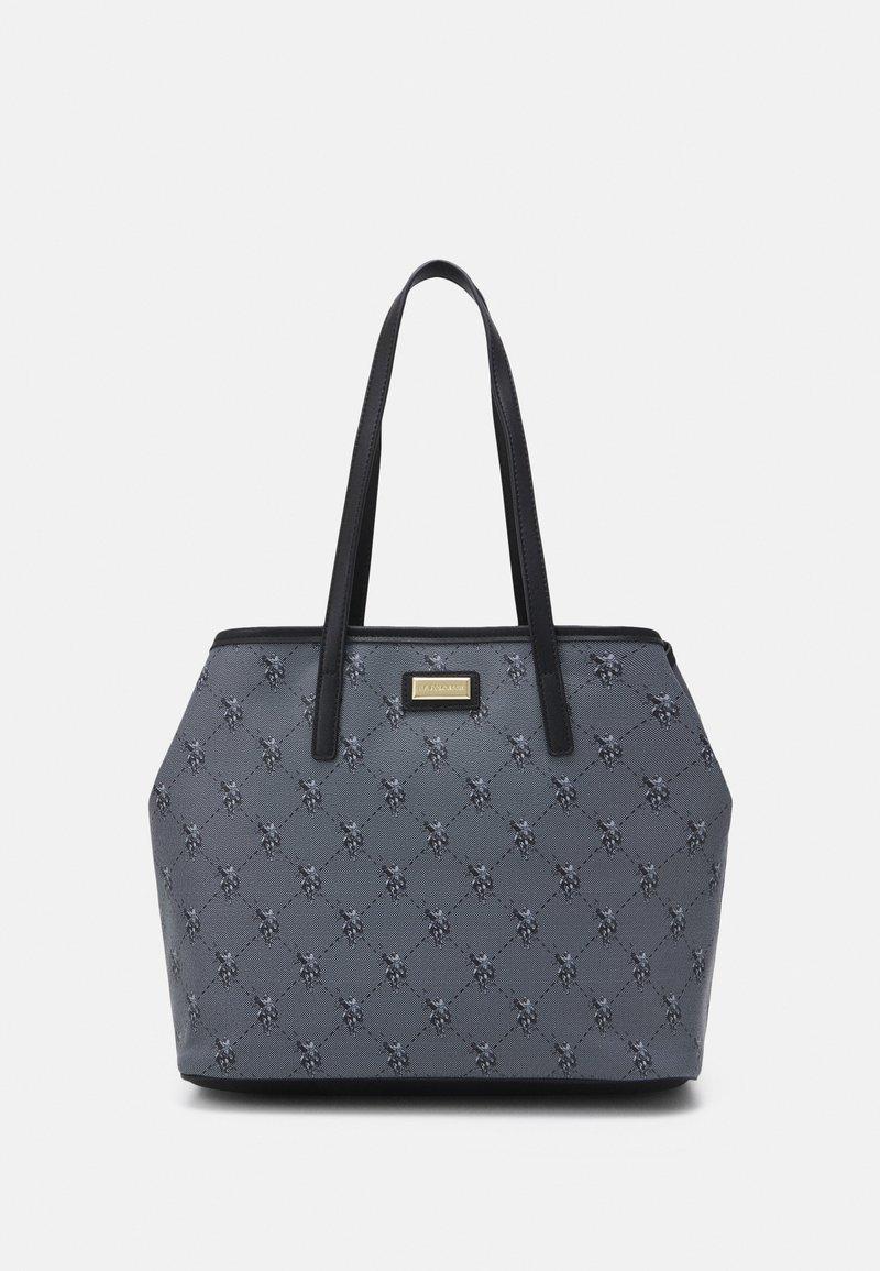 U.S. Polo Assn. - HAMPTON POUCH PRINTED - Shopping bag - black