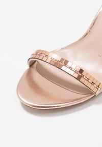 Dorothy Perkins Wide Fit - SLING MIRROR TRIM 2 PART - High heeled sandals - rose gold - 2