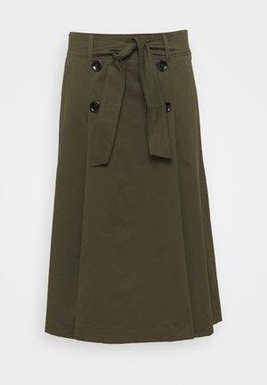 TEMA - A-line skirt - kaki
