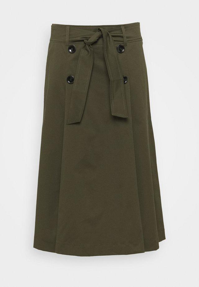 TEMA - Áčková sukně - kaki